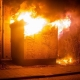 verwijderen van transformatorhuis na brand